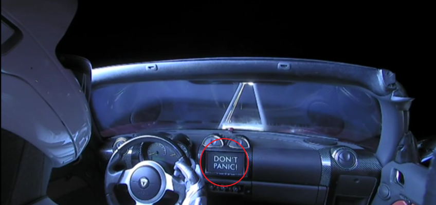 SpaceX's Starman has a SSSquid Business Card?